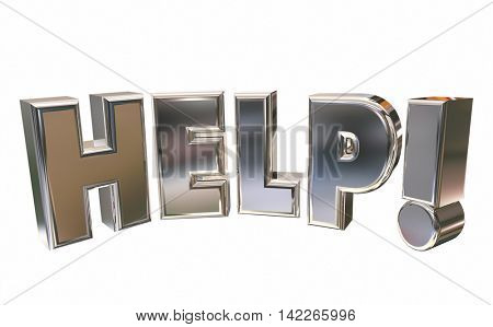 Help Assistance Support Emergency Service Word 3d Illustration
