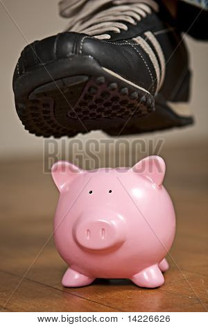 Stepping on a Piggy Bank