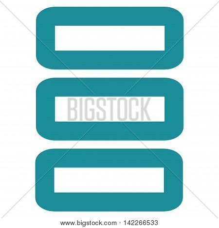 Database vector icon. Style is outline flat icon symbol, soft blue color, white background.