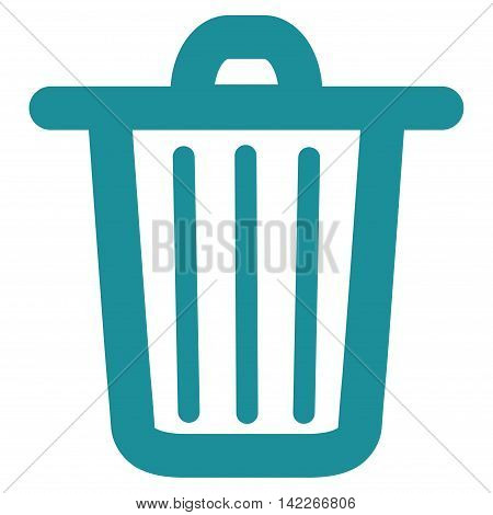 Trash Can vector icon. Style is stroke flat icon symbol, soft blue color, white background.