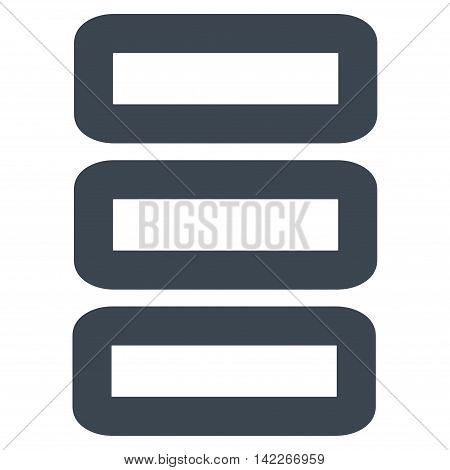 Database vector icon. Style is stroke flat icon symbol, smooth blue color, white background.