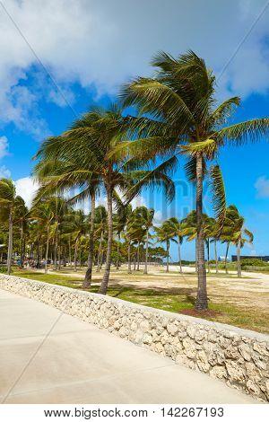 Miami south Beach entrance in Florida USA