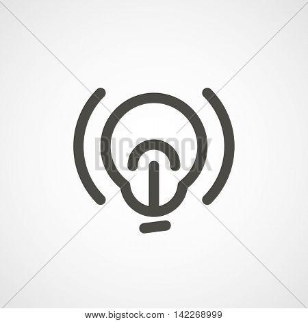 web icon of modern lineart lightbulb. Digital application pictogram