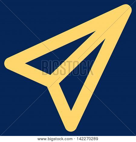 Freelance glyph icon. Style is contour flat icon symbol, yellow color, blue background.