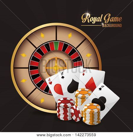 cards chips roulette casino las vegas game icon. Colorfull illustration. Vector graphic