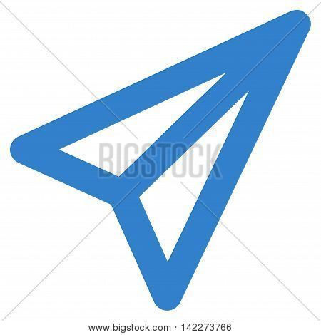 Freelance glyph icon. Style is stroke flat icon symbol, cobalt color, white background.