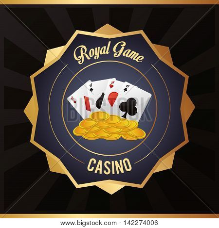 cards coins casino las vegas game icon. Colorfull illustration. Vector graphic