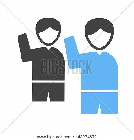 Waving, people, crowd icon vector image. Can also be used for elections. Suitable for use on web apps, mobile apps and print media.