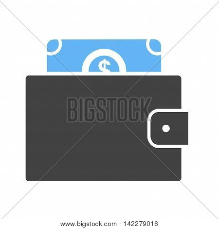 Wallet, purse, money bag icon vector image.Can also be used for finances trade. Suitable for web apps, mobile apps and print media.