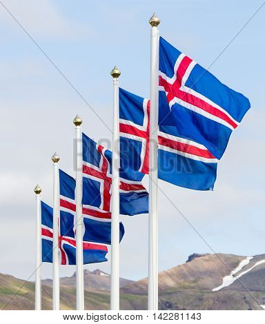 Iceland flag - flag of Iceland - Icelandic flag