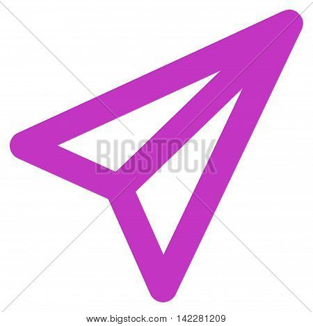 Freelance glyph icon. Style is contour flat icon symbol, violet color, white background.