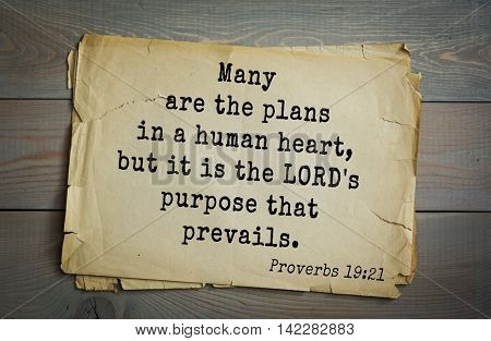 TOP-700 Bible verses from Proverbs. Many are the plans in a human heart, but it is the LORD's purpose that prevails.