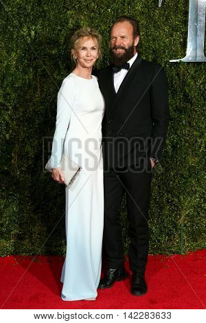 NEW YORK-JUN 7: Trudie Styler (L) and singer Sting attend American Theatre Wing's 69th Annual Tony Awards at Radio City Music Hall on June 7, 2015 in New York City.