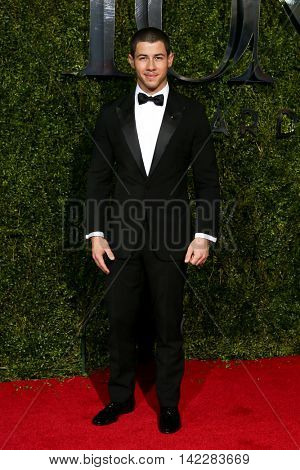 NEW YORK-JUN 7: Singer Nick Jonas attends American Theatre Wing's 69th Annual Tony Awards at Radio City Music Hall on June 7, 2015 in New York City.