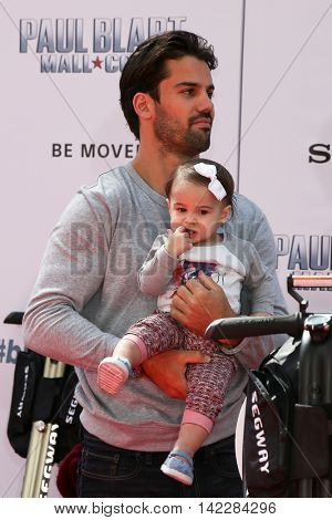 NEW YORK-APR 11: Professional football player Eric Decker and daughter Vivianne attend the world premiere of