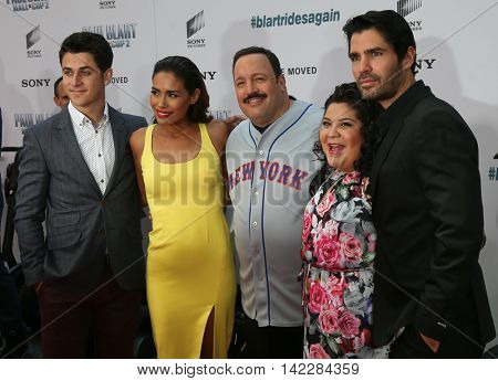 NEW YORK-APR 11: (L-R) David Henrie, Daniella Alonso, Kevin James, Raini Rodriguez and Eduardo Verastegui attend the world premiere of