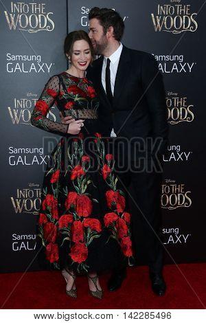 NEW YORK-DEC 8: Actress Emily Blunt (L) and John Krasinski attend the