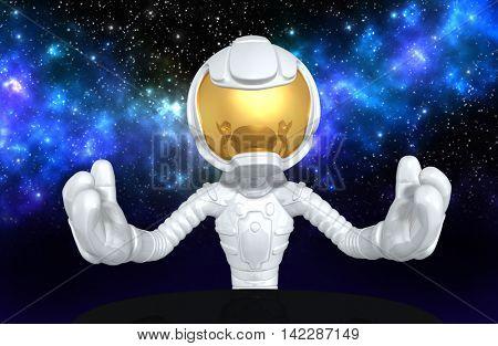Astronaut Character 3D Illustration