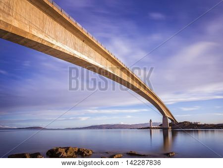 Skye Bridge at early morning on Isle of Skye - Scotland, UK