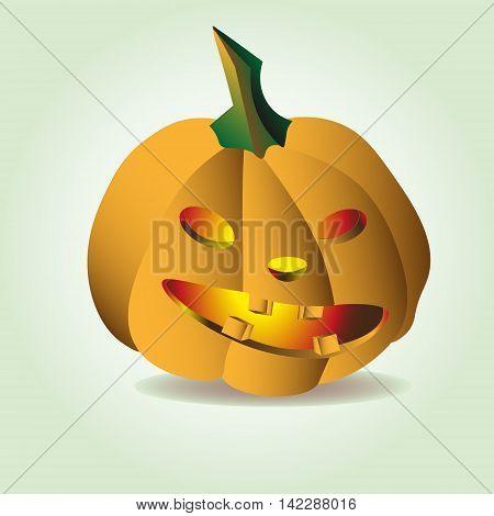 Halloween pumpkin fun vector illustration Image of Halloween pumpkin fun for a holiday on the a light background