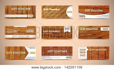 Set Of Wooden Gift Vouchers