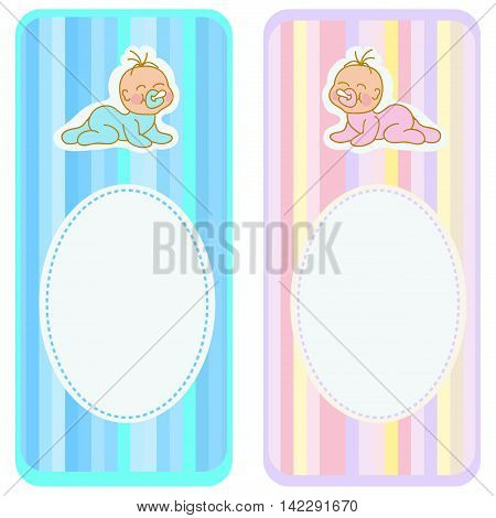 Bookmark template set with newborn baby toddlers