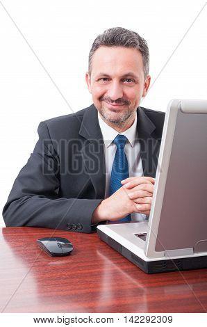 Portrait Of Trustworthy Businessman Or Lawyer