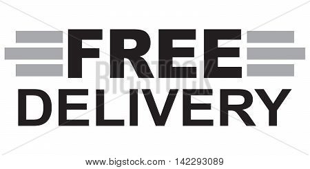 Free delivery Text logistics business industry shipment transportation