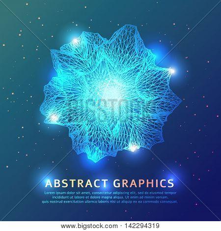 Abstract triangular geometric shape background. Technology illustration
