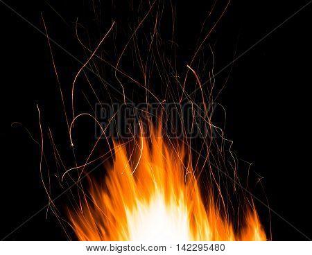 sparks of bonfire night - fire splashes background