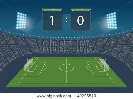 Stadium for game in football. Vector illustration