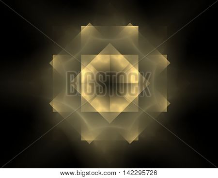 Particles Of Abstract Fractal Forms On The Subject Of Nuclear Physics Science And Graphic Design. Ge