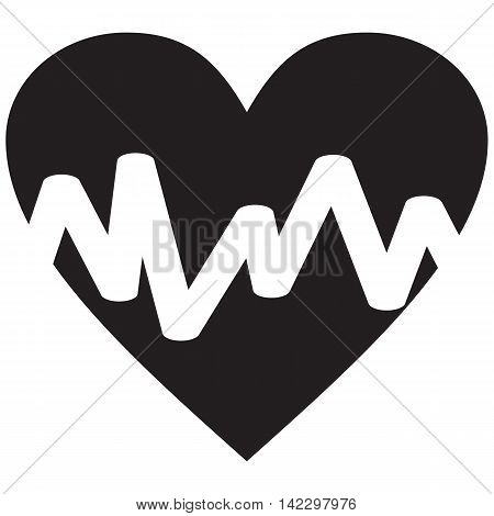 Heart Design line cardiogram graph pulse background