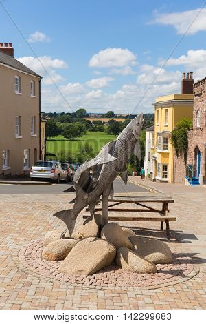 ROSS-ON-WYE, HEREFORDSHIRE, UK-JULY 18TH  2016: Beautiful summer  weather was enjoyed in the busy market town of Ross-on-Wye, England on Monday 18th July 2016