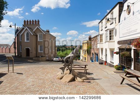 ROSS-ON-WYE, HEREFORDSHIRE, UK-JULY 18TH  2016: Beautiful summer  weather was enjoyed by visitors to the market town of Ross-on-Wye, England on Monday 18th July 2016