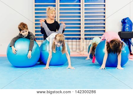 Group Of Children At Physical Education Class