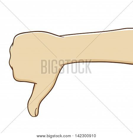 Vector stock of thumb down hand gesture
