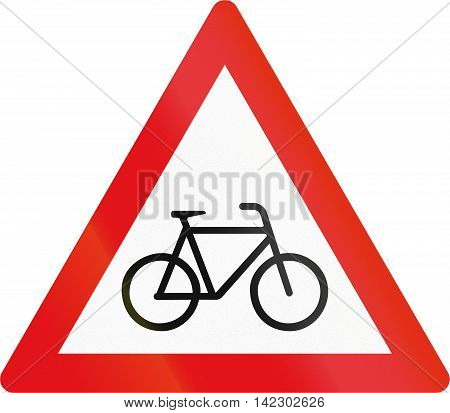 Road Sign Used In The African Country Of Botswana - Cyclists