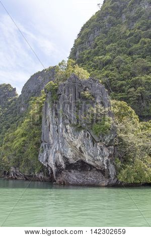 island resembling shark in Phuket island in Thailand located.