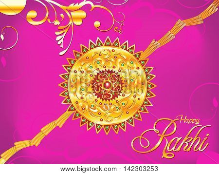 abstract artistic raksha bandhan background vector illustration
