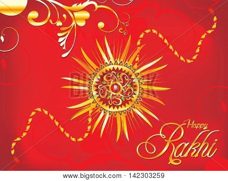 abstract artistic red rakhi background vector illustration