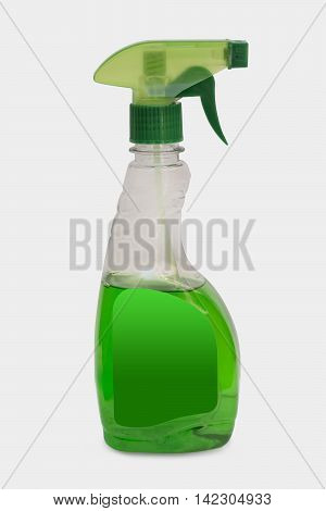 Glass Cleaning Liquid Cleaning Liquid Bottle on White Background Clipping Path Included