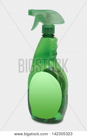 Glass Cleaning Liquid Cleaning Liquid Bottle Isolated on White Background Clipping Path Included