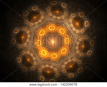 Geometry of Space series. Visually attractive backdrop made of conceptual grids curves and fractal elements suitable as element for layouts on physics mathematics technology science and education.