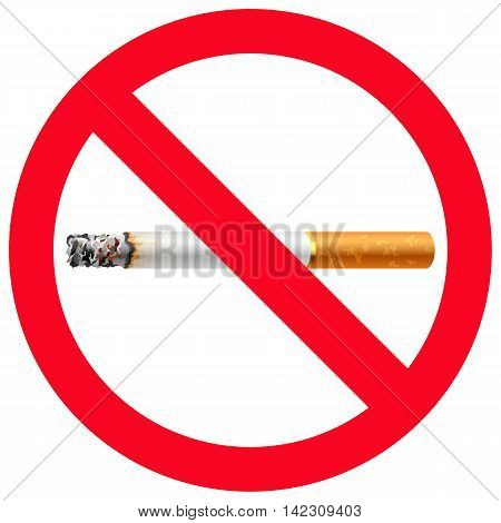 No smoking sign safety risk forbidden exclusion danger symbol