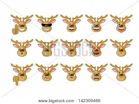 image of an elk, expression various emotions