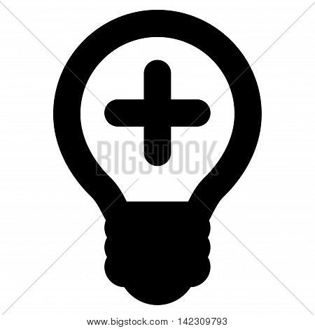 Medical Bulb vector icon. Style is outline flat icon symbol, black color, white background.