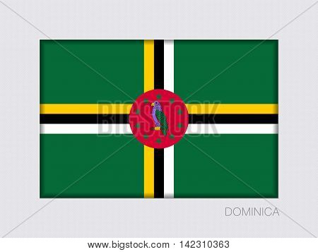 Flag Of Dominica. Rectangular Official Flag With Proportion 2:3