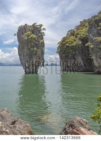 A view from the James Bond Island in Phuket in Thailand.