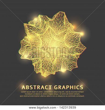 Triangular geometric shape background. Global Digital Connections.